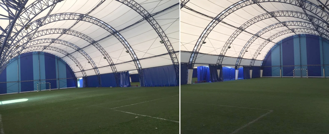 Terenurile acoperite de mini fotbal din baza Progresul Spartac